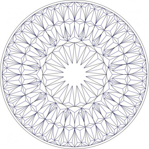 Geometric Chip Carving Pattern #Middle Beginner Carver