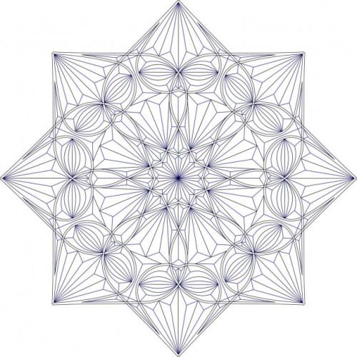 Geometric chip carving rossette #Middle Beginner Carver