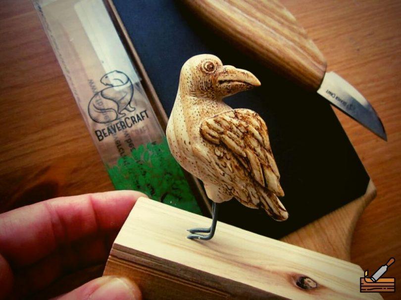 Happy Bird Carving #Advanced Beginner Carver