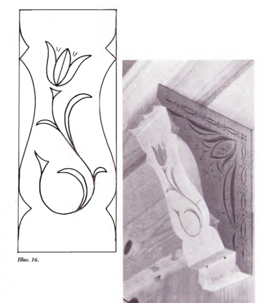 Tulip Pattern Chip Carving Pattern #Junior Carver