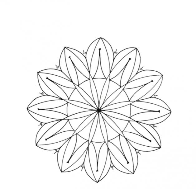 Rossette chip carving pattern Type 3 #Beginner Carver #Middle Beginner Carver