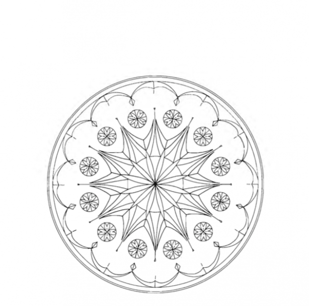 Rossette chip carving pattern Type 4 #Advanced Beginner Carver