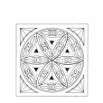 Chip Carving Pattern Rosette