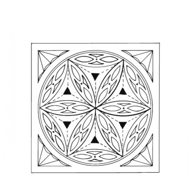Rossette chip carving pattern Type 2 #Advanced Beginner Carver