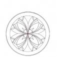 Chip Carving Pattern Rossette
