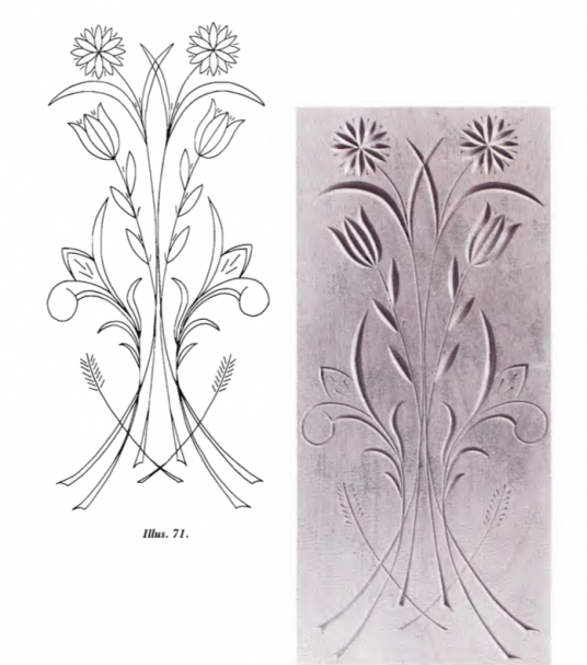 Free Form Pattern Flower 1 (free chip carving patterns)