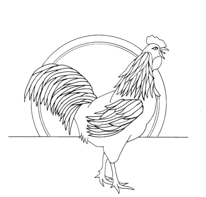 Chip Carving Pattern Rooster