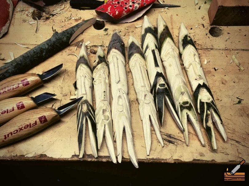 Little People Carving #Middle Beginner Carver