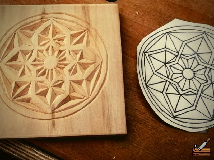 Chip Carving Project for Beginners #Junior carver