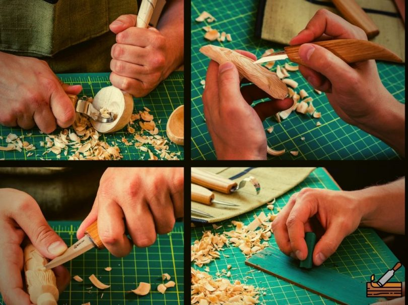 Wood Carving Tools for Beginners in Use