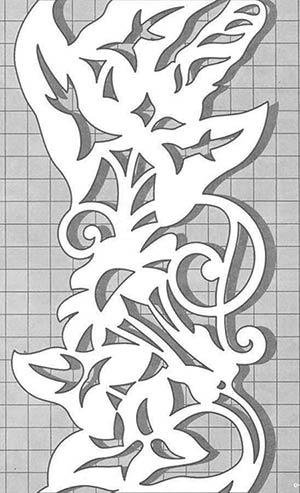 Chip carving advanced pattern #Middle Beginner Carver