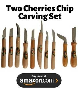two cherries chip carving set