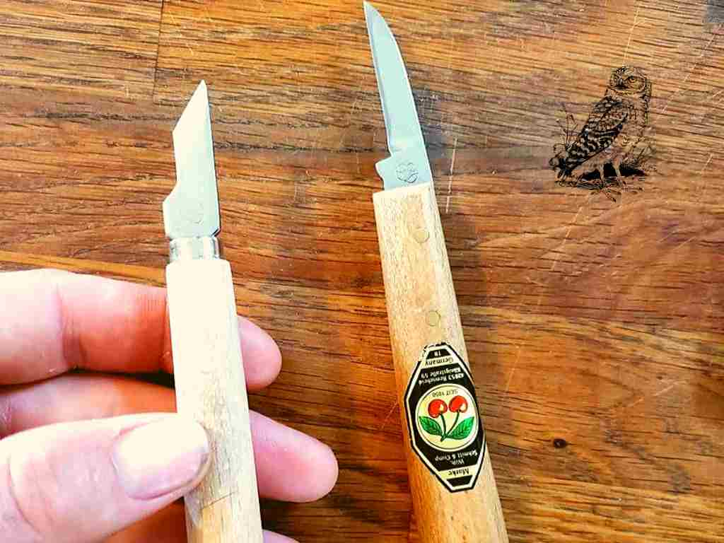 Two Cherries Long Chip Knife