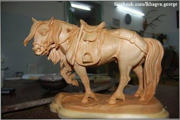 "Horse wood carving figure Author - <a href=""https://facebook.com/lkhagva.george"" rel=""nofollow"">Lkhagva George</a>"