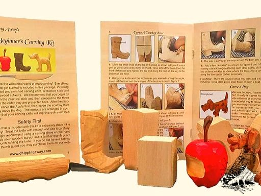 Wood carving kit covers three whittling projects