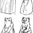 grizzly bear carving pattern