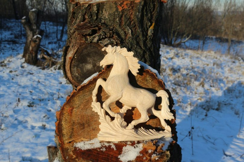 horse wood carving pattern step 6 #Middle Carver
