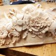 Flowers wood carving project
