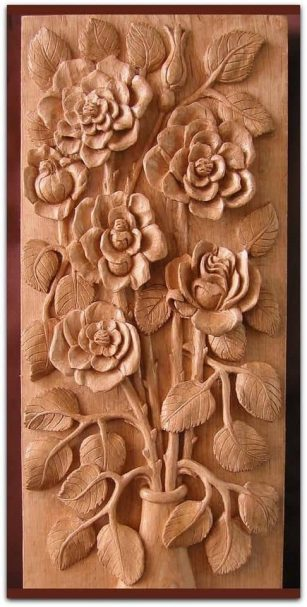 "Flowers relief carving Author - <a href=""https://vk.com/rezba_nsk"" rel=""nofollow"">Wood Sculptor</a>"