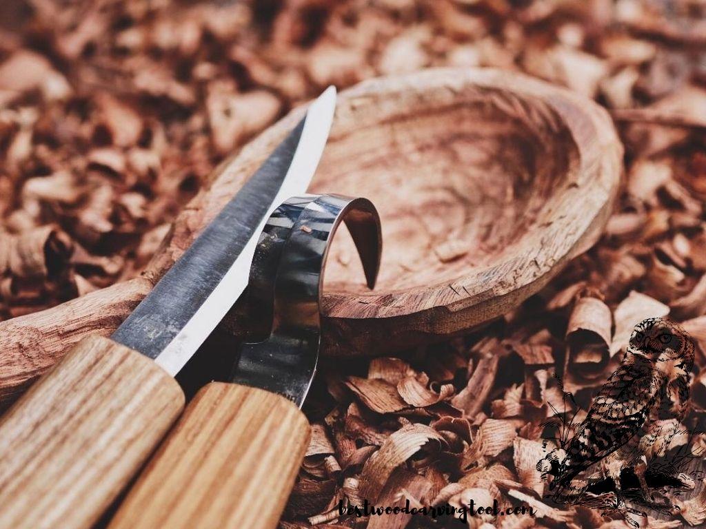 Nóż snycerski ze stali nierdzewnej, 3 sztuki