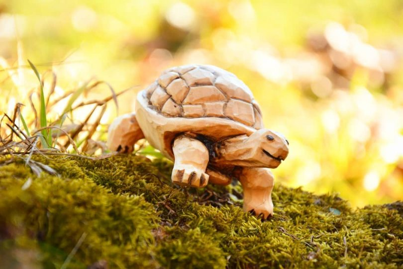 """Turtle wood carving figure Author - <a href=""""https://www.instagram.com/piowood/"""" rel=""""nofollow"""">Beardly Woodcarver</a>"""