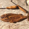 Whale jewelry tray, carved in Bocote wood