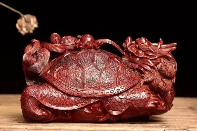 """Dragon Turtle - Wood Carving Chinese Author - <a href=""""https://ohgoodparty.com/"""" rel=""""nofollow"""">Oh Good Party</a>"""