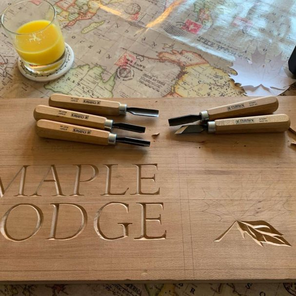 """Carving Letters for a Christmas present Author - <a href=""""https://www.instagram.com/joshua_a_priest/"""" rel=""""nofollow"""">Josh Priest</a>"""