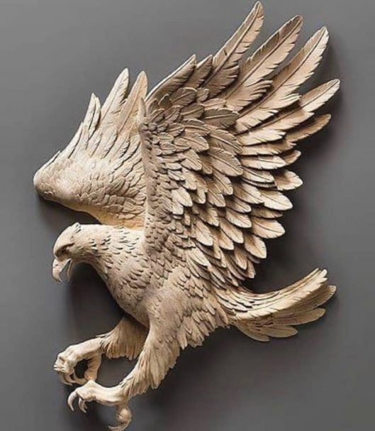 """Powerful Wooden Eagle Author - <a href=""""https://vk.com/artwoodbg"""" rel=""""nofollow"""">Art WoodCarving</a>"""