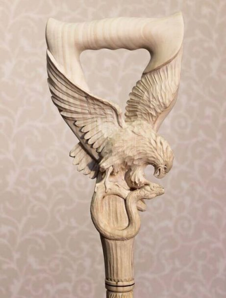 """Wooden Handle in the Form of an Eagle Author - <a href=""""https://vk.com/artwoodbg"""" rel=""""nofollow"""">Art WoodCarving</a>"""