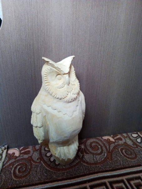 "Owl wood carving figure Author - <a href=""https://vk.com/id634705717"" rel=""nofollow"">Ilya Rossoshansky</a>"