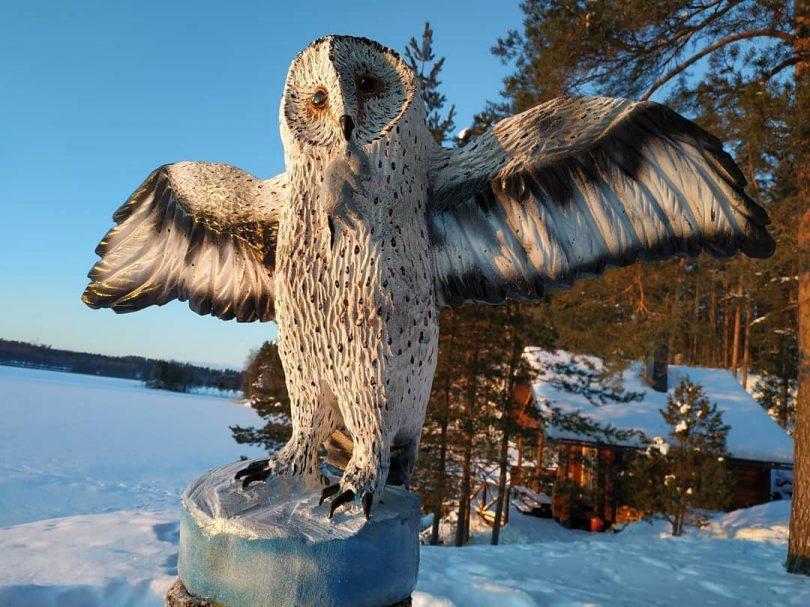 """Owl Wooden sculpture Author - <a href=""""https://www.instagram.com/wooden_bears/"""" rel=""""nofollow"""">Wooden_Bears</a>"""