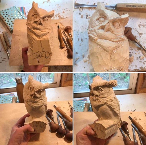 """mini Owl wood carving project Author - <a href=""""https://vk.com/artwoodbg"""" rel=""""nofollow"""">Art WoodCarving</a>"""