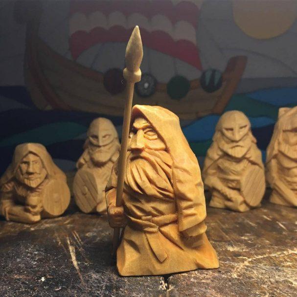 "The Figure of Wooden Odin Author - <a href=""https://www.instagram.com/bagushevich_frantishak/"" rel=""nofollow"">Frantishak Bagushevich</a>"