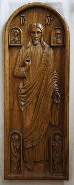 """Relief carving of Jesus Christus Author - <a href=""""https://vk.com/id161607080"""" rel=""""nofollow"""">Evgeny G. Userdnov</a>"""