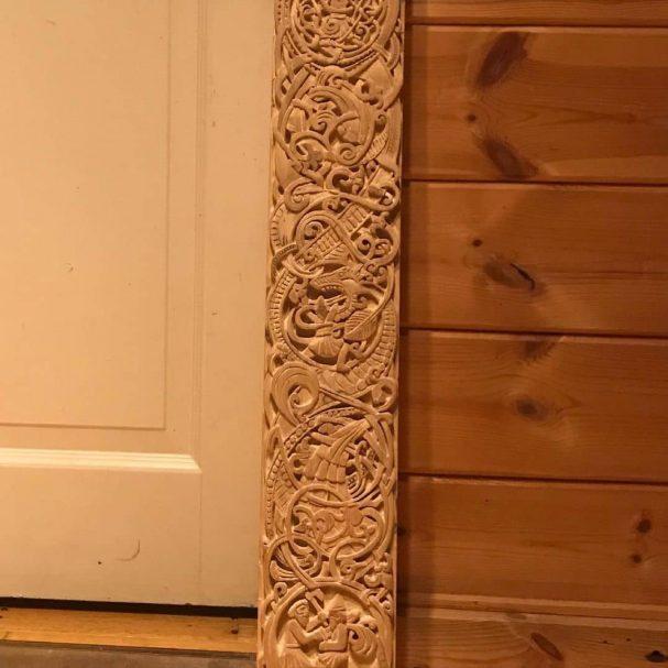 "Norse relief carving Author - <a href=""https://www.instagram.com/cookingbyperkele/"" rel=""nofollow"">Kai Tikkunen - Wild Game Cook</a>"