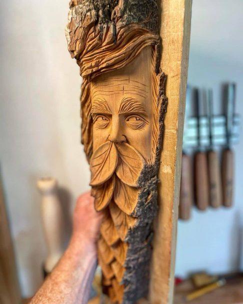 "Wood Spirit Carving Projects Author - <a href=""https://www.instagram.com/knottyspirits192007/"" rel=""nofollow"">Jonathan M Robinson</a>"