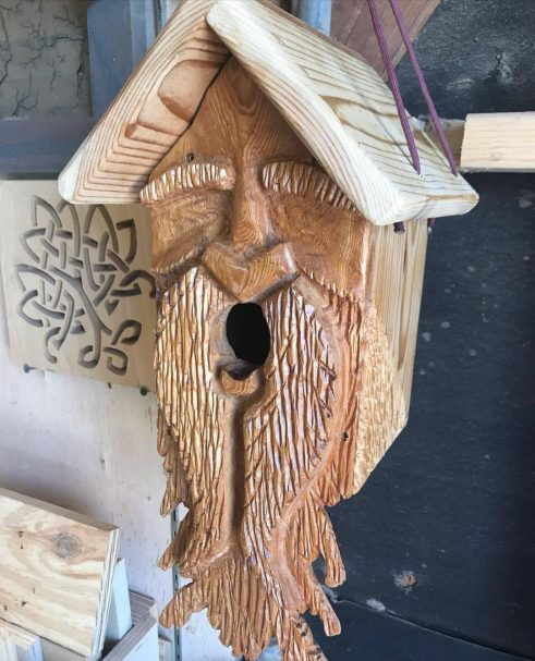 """Birdhouse in the form of a spirit Author - <a href=""""https://www.instagram.com/2hme_woodwrks/"""" rel=""""nofollow"""">2HME Woodworks</a>"""