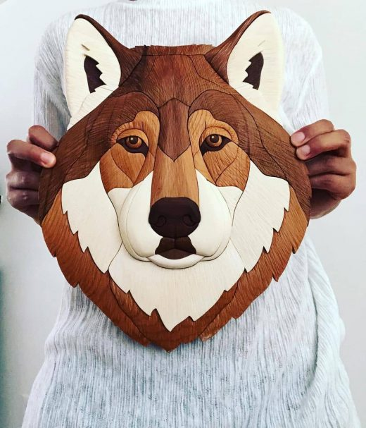 """Wood Carving - Wolf Head Author - <a href=""""https://www.instagram.com/sharon_woodwork/"""" rel=""""nofollow"""">sharonwoodwork</a>"""