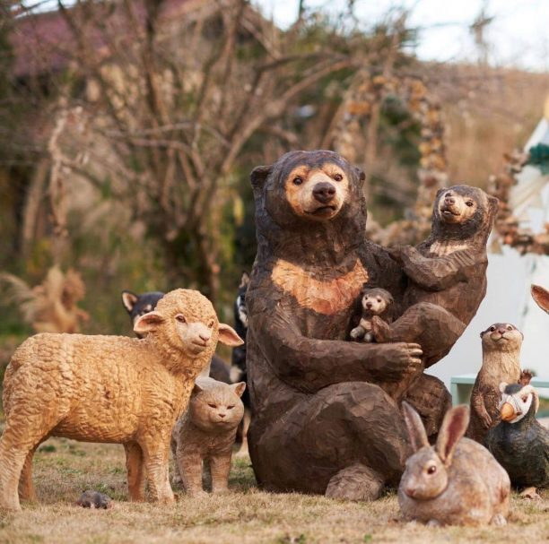 """Bären mit anderen Tieren Author - <a href=""""https://vk.com/artwoodbg"""" rel=""""nofollow"""">Art WoodCarving</a>"""