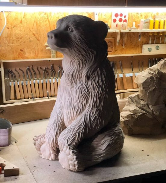 """Teddybär - gute Detaillierung des Fells Author - <a href=""""https://vk.com/artwoodbg"""" rel=""""nofollow"""">Art WoodCarving</a>"""