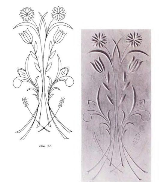 Free Form Pattern Flower 1 (kostenlose Schnitzvorlagen)