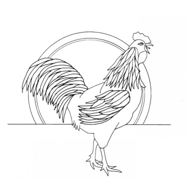 Free Form Pattern Rooster 5 (darmowe wzory rzeźbienia w żetonach) #Advanced Beginner Carver