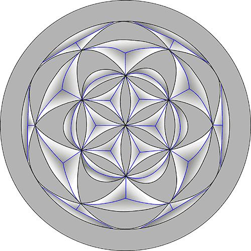 Rosette Chip Carving Pattern 37 #Middle Beginner Carver