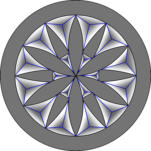 Rosette Chip Carving Pattern 17 #Middle Beginner Carver