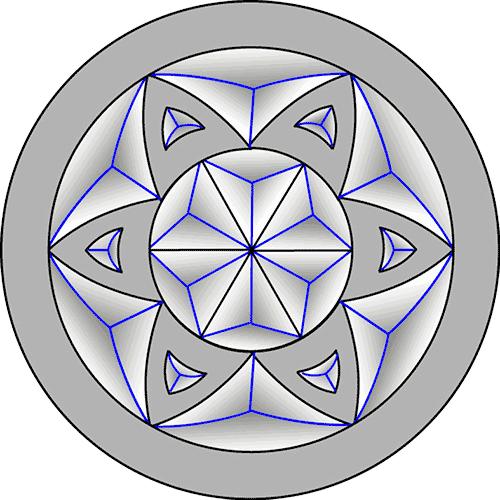 Rosette Chip Carving Pattern 1 #Junior Carver