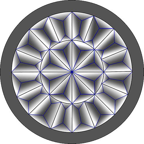 Rosette Chip Carving Pattern 18 #Middle Beginner Carver