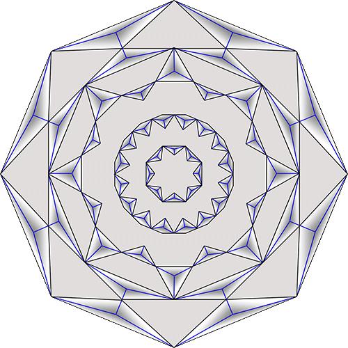 Rosette Chip Carving Pattern 78 #Middle Beginner Carver