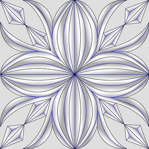 Rosette Chip Carving Pattern 79 #Middle Beginner Carver