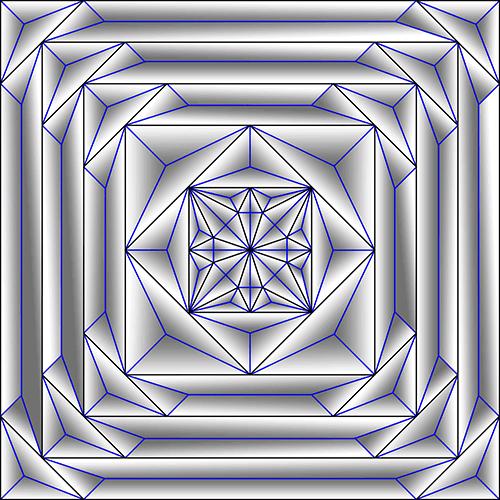 Rosette Chip Carving Pattern 80 #Middle Beginner Carver